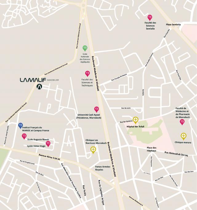Plan de localisation showroom